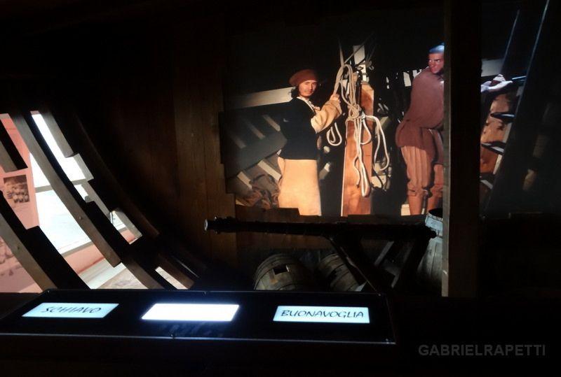 Tasti luminosi a sfioramento nella Galea del Galata