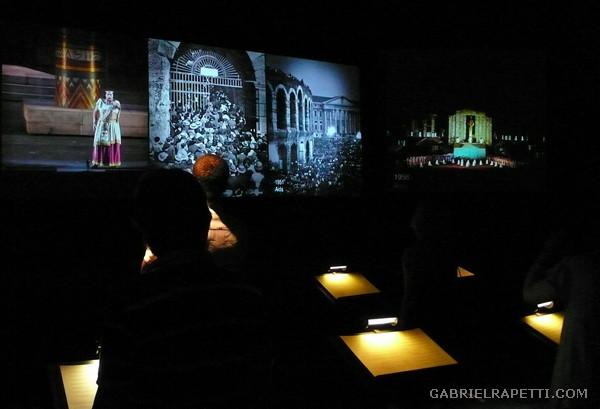 """Installazione interattiva """"Scatola d'orchestra"""" dell'Arena Museo Opera"""