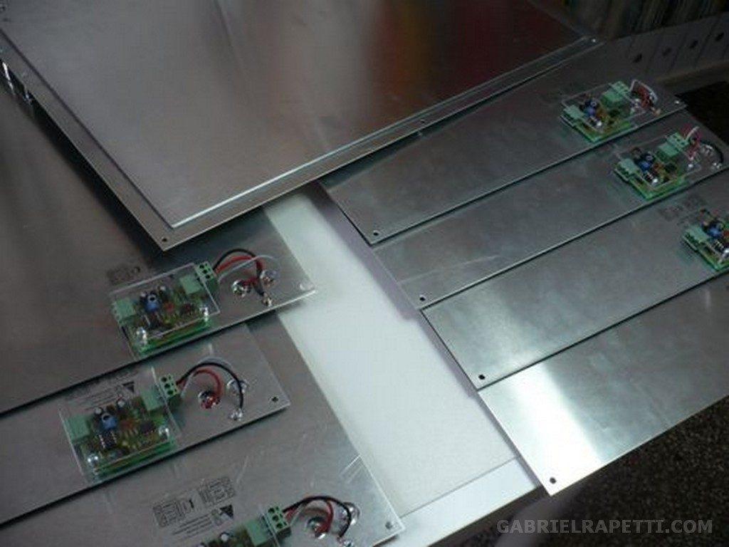 Sensori di tocco appositamente sviluppati per la mostra