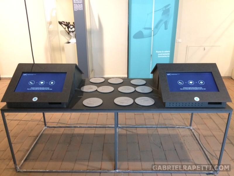 Tavolo interattivo per il Museo della Calzatura, Castello di Vigevano. Cliente: Krea sas, Migliore & Servetto aa.