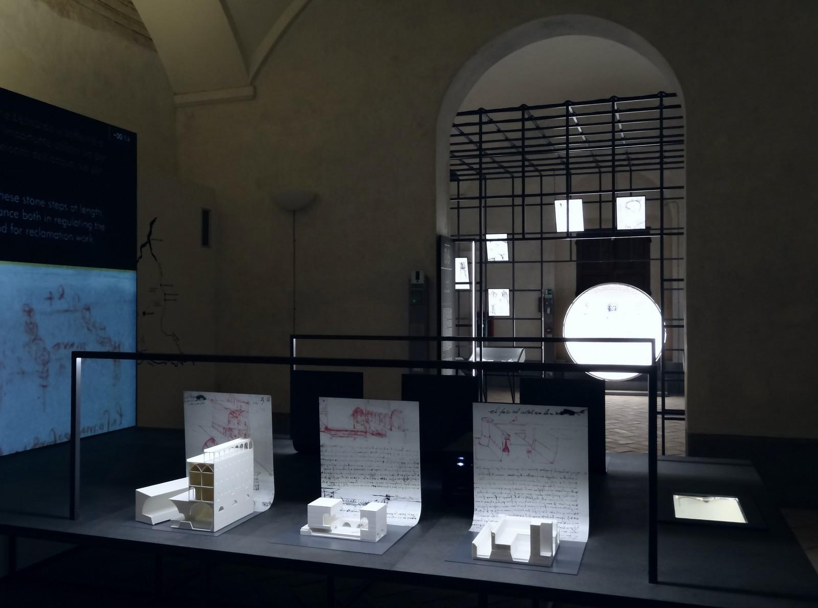 Una delle sale del museo Leonardiana